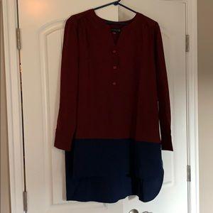 Burgundy and navy tunic, brand new